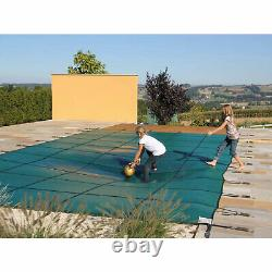 Winter Outdoor Swimming Pool Cover 16X32 FT With Center Step Rectangular Safety
