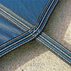 Yard Guard Deck Lock 20x40 Ft + 8 Ft Center End Steps Swimming Pool Cover (Used)