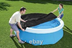 8ft Gonflable Natation Round Paddling Set Rapide Pool Cover Garden Patio Pools