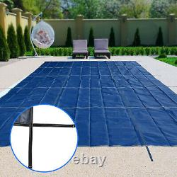 Pool Safety Cover Rectangle Inground For Winter Piscine Mesh Solid Blue