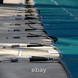 Stock Us Pool Safety Cover Rectangle Inground For Winter Piscine Mesh
