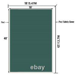 Vevor Pool Safety Cover Inground 18x42ft, Rectangle Safety Pool Cover