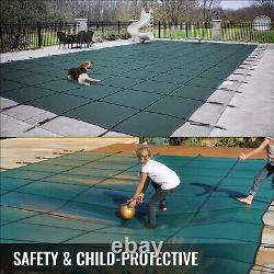 Vevor Pool Safety Cover Pool Inground Cover 18x38ft, Rectangle Safety Pool Cover